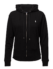 HOODED FZ-LONG SLEEVE-KNIT - POLO BLACK