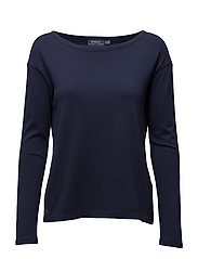 LS BOATNECK-LONG SLEEVE-KNIT - CRUISE NAVY