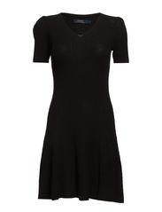 AMELIE SS CASUAL DRESS - BLACK