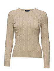 Cable-Knit Crewneck Sweater - NATURAL