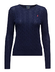 Wool-Cashmere Crewneck Sweater - BRIGHT NAVY