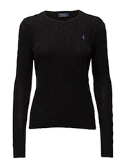Wool-Cashmere Crewneck Sweater - POLO BLACK