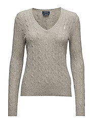 Wool Blend V-Neck Sweater - LIGHT VINTAGE H