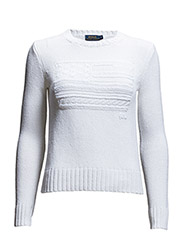 BARBARA LS SWEATER - WHITE