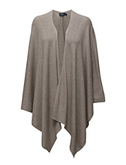 PONCHO-SLEEVELESS-SWEATER - REGENT HEATHER