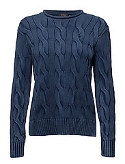 Cable-Knit Rollneck Sweater - INDIGO