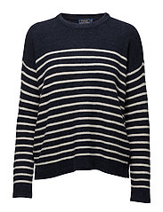 LS CN-LONG SLEEVE-SWEATER - NAVY/CREAM
