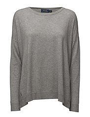 LS STRCHD CN-LONG SLEEVE-SWEAT - FAWN GREY HEATH