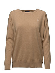 LS CN-LONG SLEEVE-SWEATER - CAMEL MELANGE