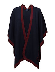 VARSITY WRAP-SLEEVELESS-SWEATE - NAVY/WINE