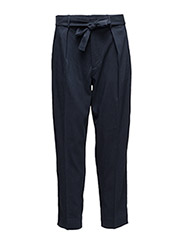 Twill High-Rise Pant - PARK AVENUE NAVY