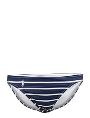 STRIPED HIPSTER BIKINI BOTTOM - RIVERIA NAVY