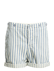 SIMONE SHORT - BLUE/CREAM AWNI