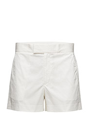 STRETCH COTTON TWILL SHORT - DECKWASH WHITE