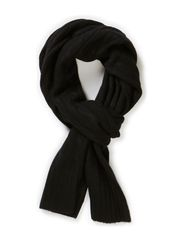 CABLE SCARF - POLO BLACK