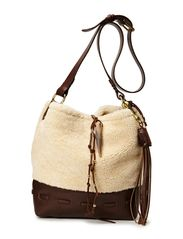 SHEARLING HOBO - CREAM
