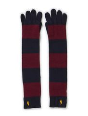 STRIPE GLOVE - WINE/NAVY