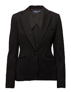 Peplum Jacquard Jacket - POLO BLACK