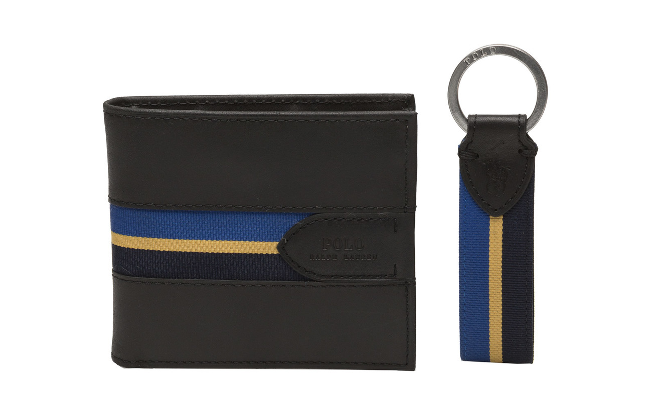 Wallet & Key Fob Gift Set (Black) (£85) - Polo Ralph Lauren ...