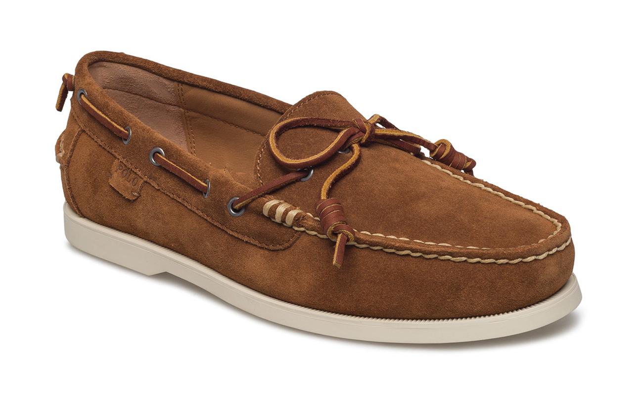 Polo Ralph Lauren Slip Suède Millard Chaussures Bateau À Tan - Tabac Plbe55Xr9