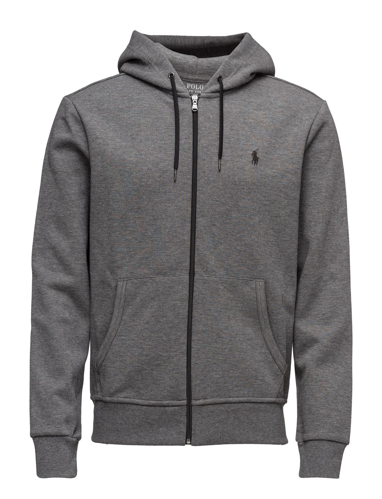 gray polo hoodie
