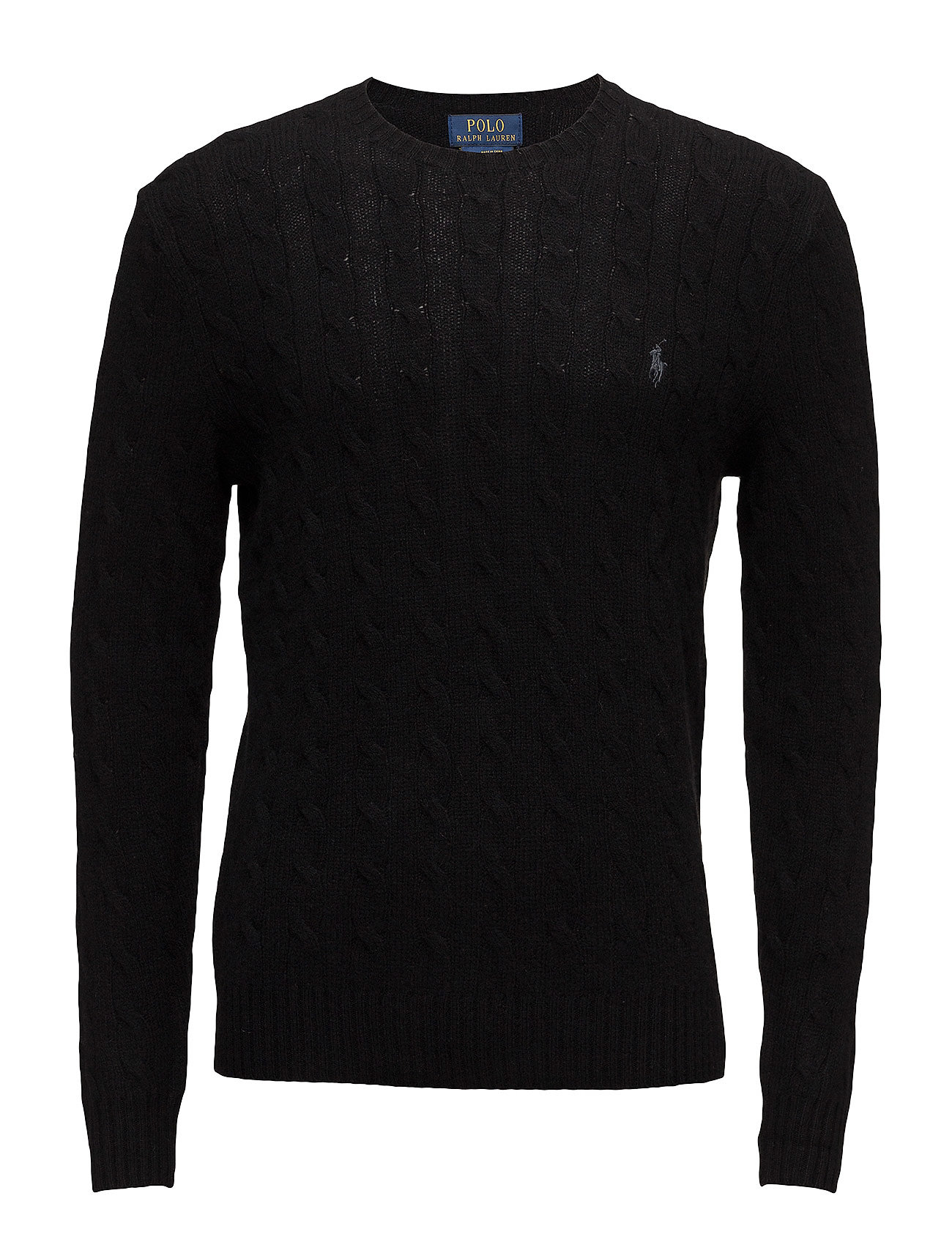 Wool-cashmere Cable-knit Sweater (Polo Black) (£115.50) - Polo ...