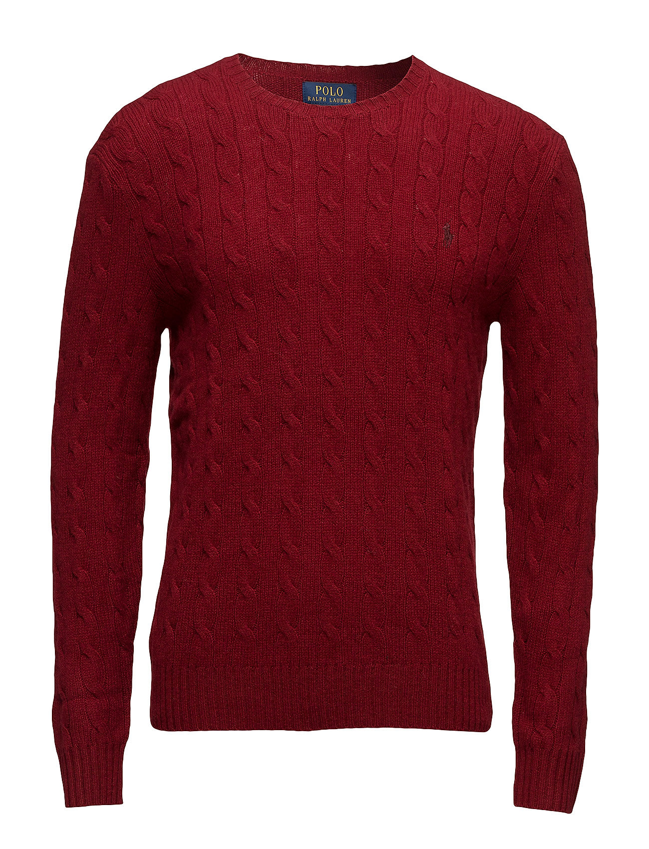 Wool-cashmere Cable-knit Sweater (Holiday Red) (£115.50) - Polo ...