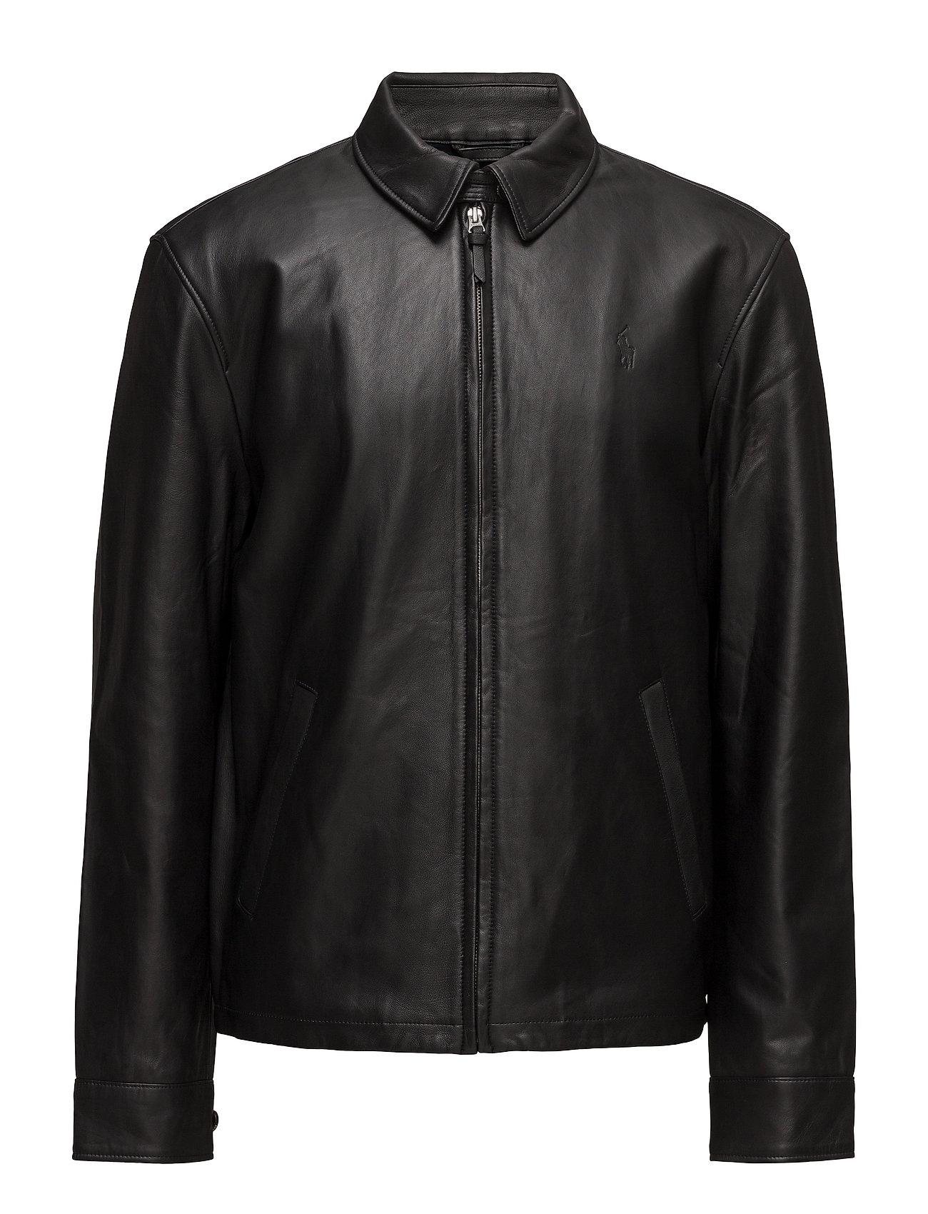 Lambskin Leather Jacket (Polo Black) (£649) - Polo Ralph Lauren ...