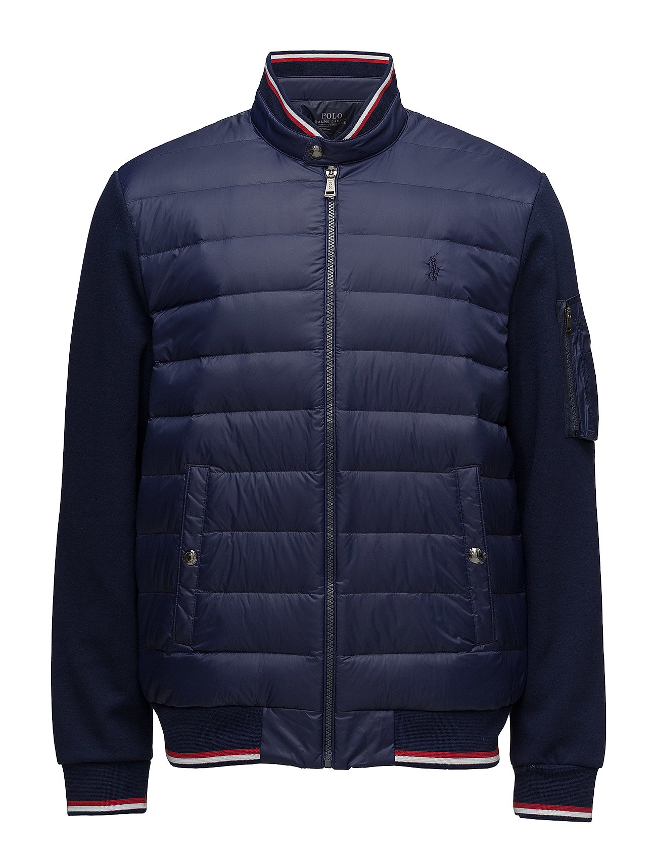 Active Fit Hybrid Down Jacket (French Navy) (£199) - Polo ...