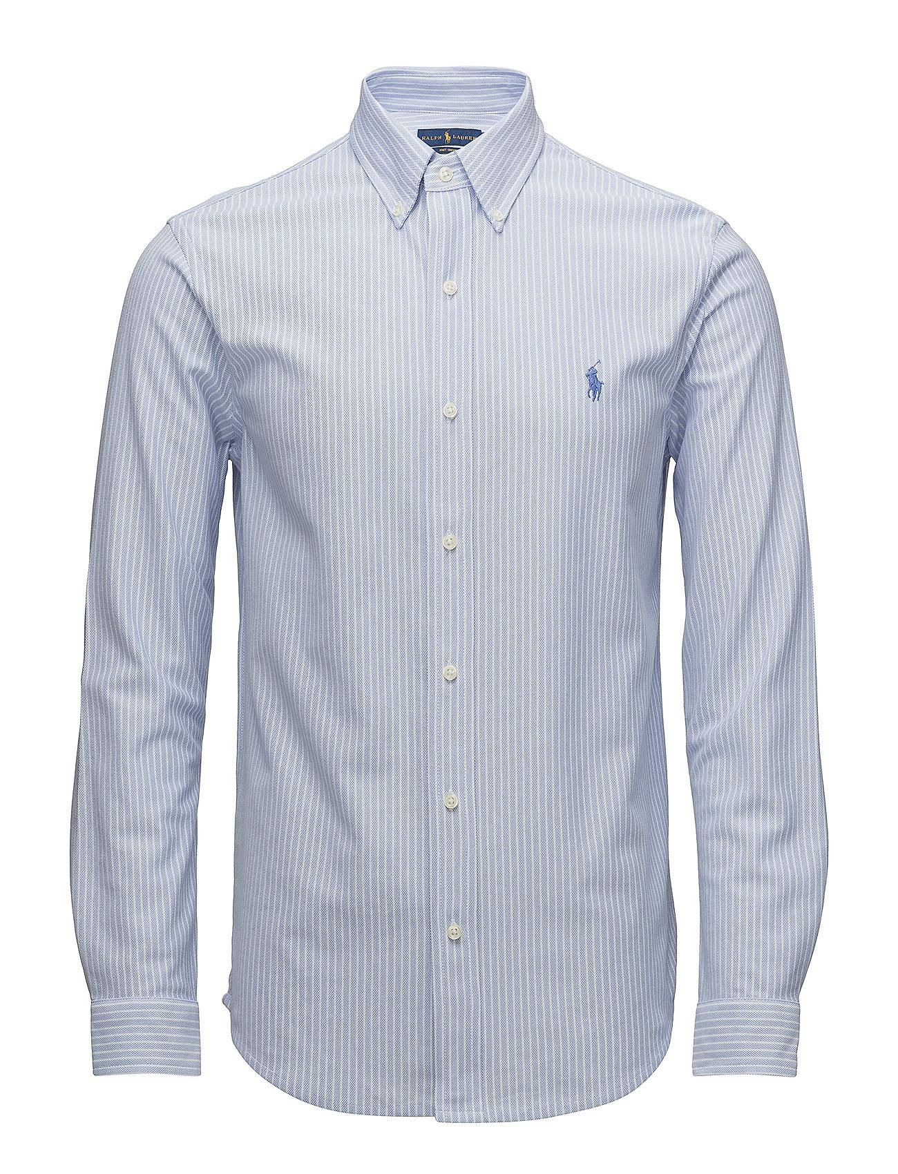 Classic Fit Knit Oxford Shirt Dress Shirt Blue 115