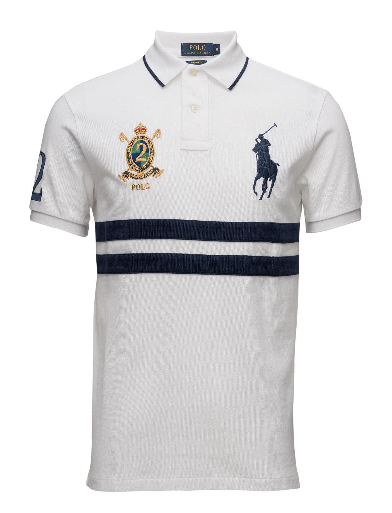 Custom fit big pony polo shirt white multi 119 polo for Polo ralph lauren custom fit polo shirt