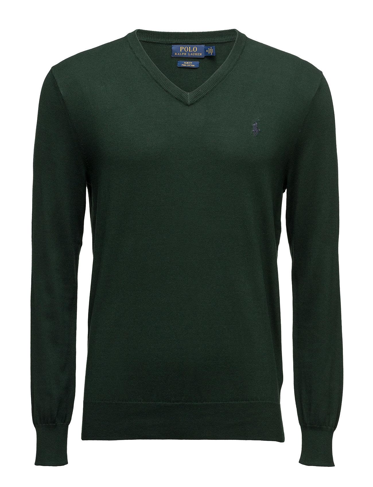 Polo Ralph Lauren Slim Fit Pima Cotton V-Neck Sweater