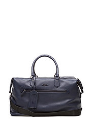 Pebbled Leather Duffel Bag - BLUE