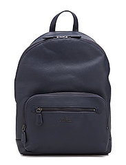 Pebbled Leather Backpack - BLUE