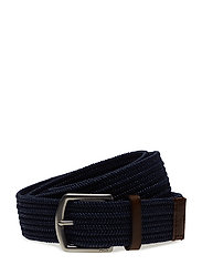 34MM BRAIDED FABRIC STRETCH BLT - NAVY