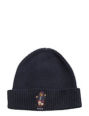 Cotton-Blend Polo Bear Hat - HUNTER NAVY