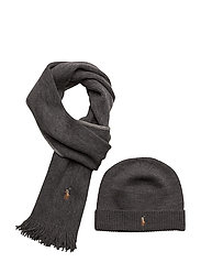 Wool Hat and Scarf Gift Box - DARK GRANITE HEAT