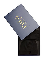 Wool Hat and Glove Gift Set - POLO BLACK