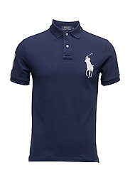 Slim Fit Big Pony Polo Shirt - NEWPORT NAVY/WHIT