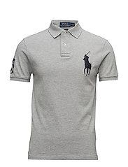 Slim Fit Big Pony Polo Shirt - ANDOVER HEATHER