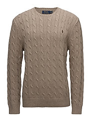 Cable-Knit Cotton Sweater - ADIRONDACK HEATHE