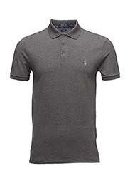 Slim Fit Stretch Mesh Polo - FOSTER GREY HEATHER