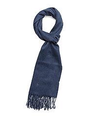 CASHMERE-FRINGE SCARF PP - SHALE BLUE HEATHE