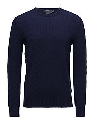 Cable-Knit Cashmere Sweater - BRIGHT NAVY