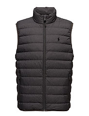 Packable Down Vest - WINDSOR HEATHER