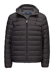 Packable Hooded Down Jacket - WINDSOR HEATHER