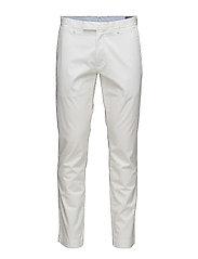Stretch Slim Fit Cotton Chino - WHITE