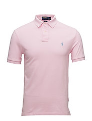 Slim Fit Weather Mesh Polo - CARMEL PINK