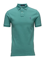 Slim Fit Weather Mesh Polo - DIVER GREEN