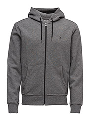 Double-Knit Full-Zip Hoodie - FOSTER GREY HEATHER